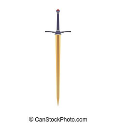 Sword medieval vector icon illustration knight weapon isolated war ancient design. Battle steel old