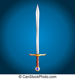 Sword, vector illustration
