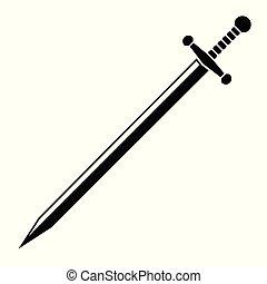 sword., vetorial, ilustração