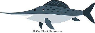 Swordfish cartoon icon