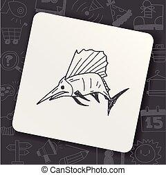 Swordfish doodle