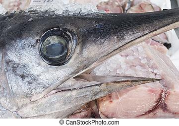 swordfish - Sword Fish on sale at the fish market rionaqle