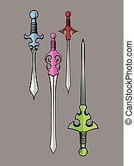 Swords Designs Vector