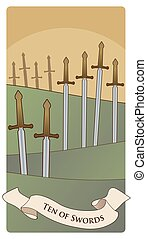 swords-minor, arcana-09