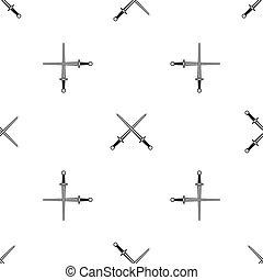 Swords pattern seamless black - Swords pattern repeat...