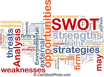 SWOT analysis background concept - Background concept...