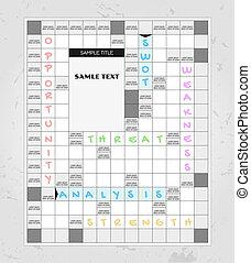 swot analysis crosswords