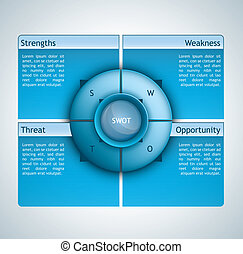 Swot analysis - Presentation template with four options and...