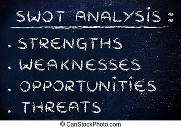 Swot Analysis to assess a company's potential - list of the ...