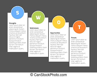 SWOT Business Infographic Diagram