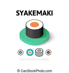 Syakemaki icon in different style