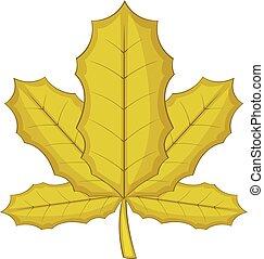 Sycamore icon, cartoon style - Sycamore leaf icon. Cartoon...