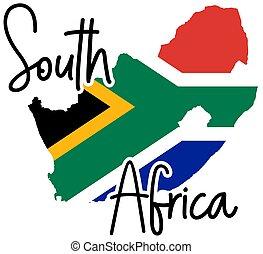sydafrika, silhuett