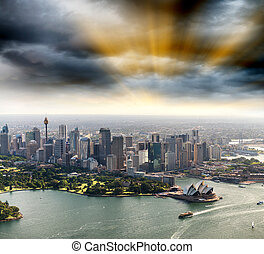 Sydney, Asutralia. Aerial city view