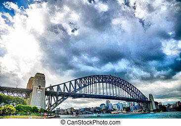 SYDNEY, AUSTRALIA - APRIL 16 Harbour bridge3 on April 16,...