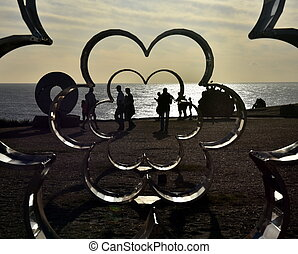 Sydney, Australia - Nov 6, 2016. Silvia Tuccimei: Flower Power. Sculpture by the Sea along the Bondi to Coogee coastal walk is the world's largest free to the public sculpture exhibitions.