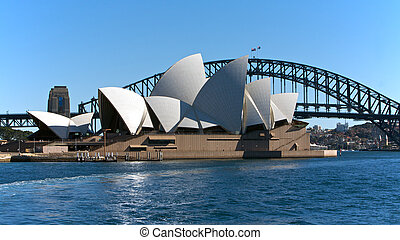 Sydney Australia Opera House and Bridge - Sydney Opera House...