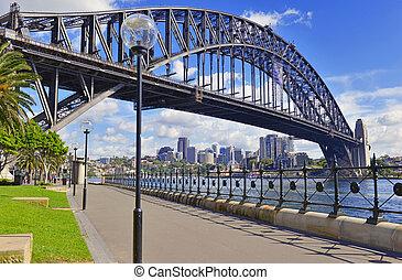 sydney, australia, puente puerto
