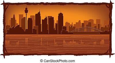 Sydney Australia skyline - Sydney, Australia skyline...