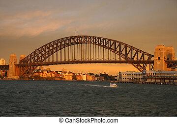 Sydney Bridge at sunset