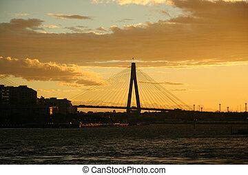 Sydney Bridge Silhouete
