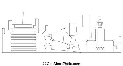 Sydney cityscape outline