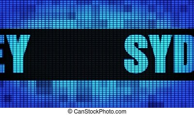 SYDNEY Front Text Scrolling LED Wall Pannel Display Sign...