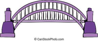 Sydney Harbour Bridge icon cartoon