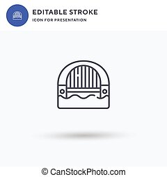 Sydney Harbour Bridge icon vector, filled flat sign, solid pictogram isolated on white, logo illustration. Sydney Harbour Bridge icon for presentation.