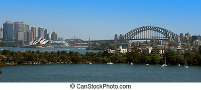 Sydney Harbour Panorama - A panorama view of Sydney Harbour