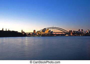 Sydney Harbour Skyline At Dusk