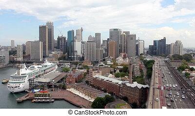 Sydney Harbour Skyline - Cityscape view of Sydney Harbour...