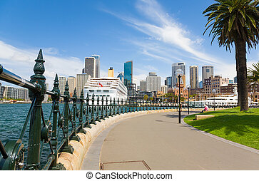 Sydney Central Business District from Dawes Point Park, Australia