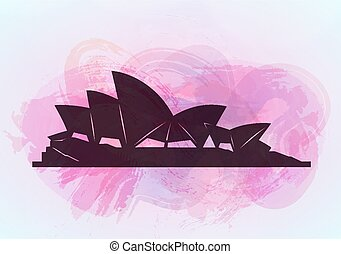 Sydney opera house background.