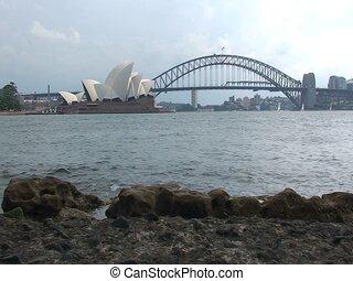 Sydney Opera House Building and Harbor Bridge