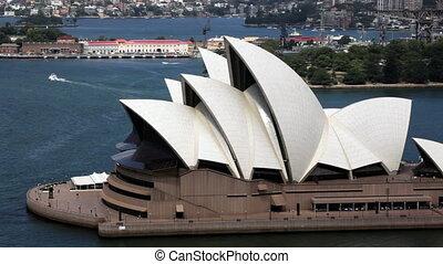 Sydney Opera House - Aerial Extreme Closeup of Sydney Opera...