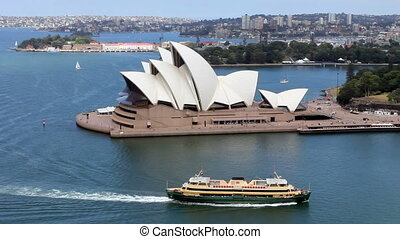 Sydney Opera House Harbour - Ships sailing in Sydney Harbour...