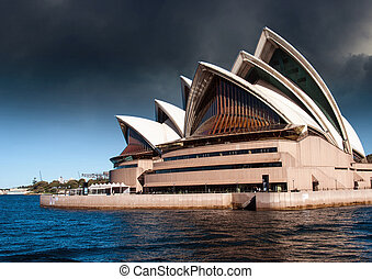Sydney Opera House with Bad Weather