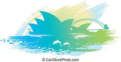 sydney opera scenery background.