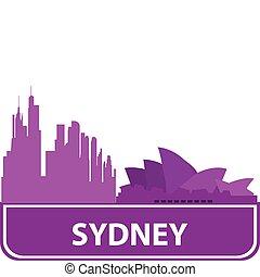 Sydney outline. Vector illustration for you design