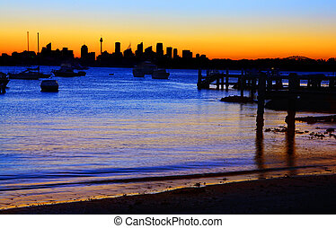 Sydney Silhouette from Gibsons Beach Vaucluse
