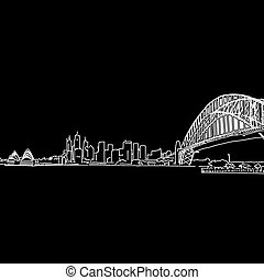 Sydney skyline drawing