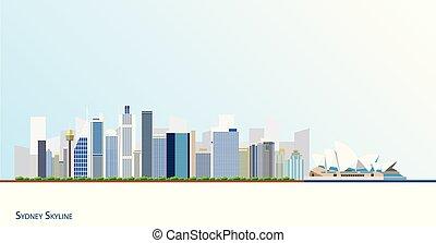 sydney skyline illustration sydney skyline drawn as one continuous