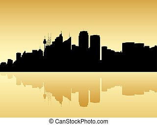 Sydney Skyline Silhouette