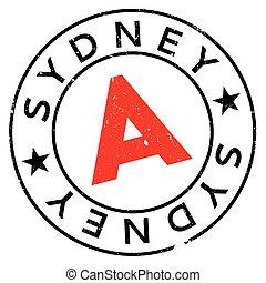Sydney stamp rubber grunge