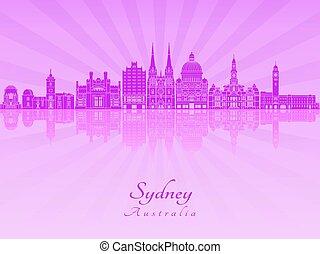 Sydney V3 skyline in purple radiant orchid
