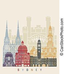Sydney V3 skyline poster