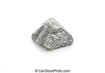 syenite isolated over white