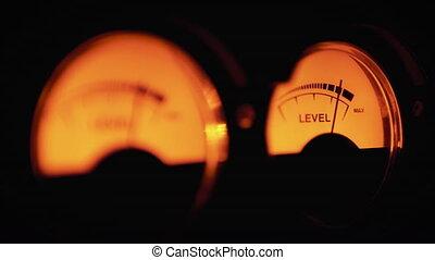sygnał, meters., vu, odgłos, analog, rocznik wina, klasyk,...