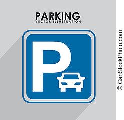 sygnał, parking